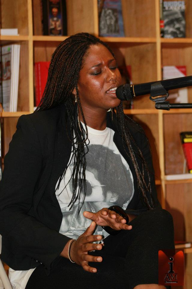 Singing at the famous Nicholas Brooklyn Nights Poetry and Music Open Mic.