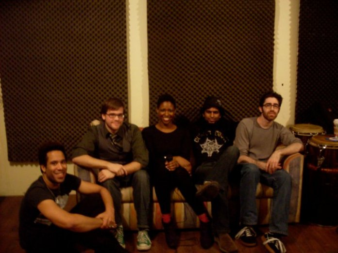 2010- Behind the scense during an interview with my friend Tony Grend's former band.