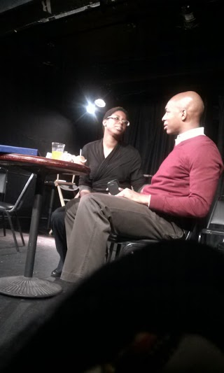 """Me playing """"Waitress/Theresa"""" in Journey into Blackness by Bonnie Wright at the Producer's Club in NYC. With Trayvon playing """"Blair."""""""