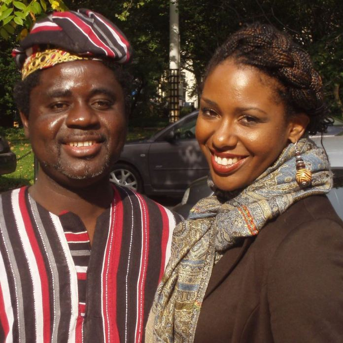 Me with friend and President of the African People's Alliance, Djounedou Titikpina