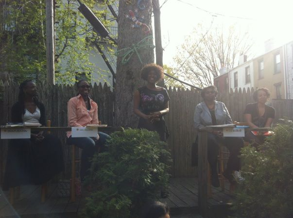 Performing at Women Writers in Bloom Poetry Salon's 1 Year Anniversary. Visit the blog at www.womenwritersinbloompoetrysalon.blogspot.com.