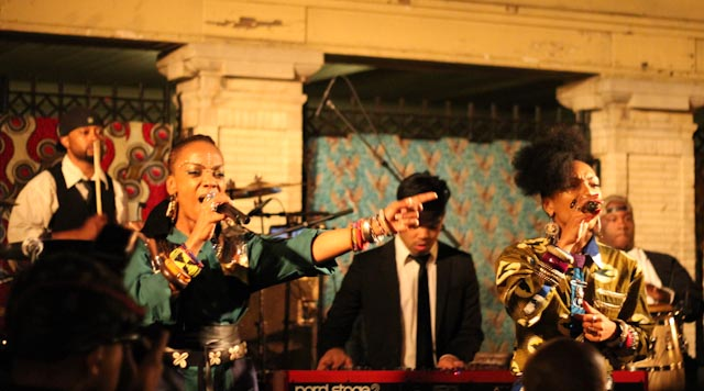 "Les Nubians perform their classic, ""Makeda."" Photo by Akinfe Fatou"