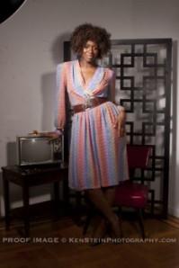 full length vintage dress